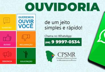 Novo Canal de Comunicação Ouvidoria WhatsApp